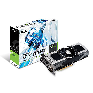 MSI NTITAN Z 12GD5 - GeForce GTX TITAN Z 12 Go 12288 Mo Dual DVI/HDMI/DisplayPort - PCI Express (NVIDIA GeForce avec CUDA GTX TITAN Z)