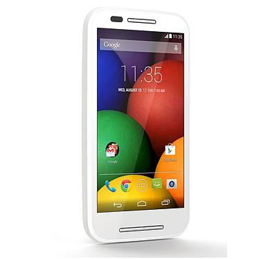 "Motorola Moto E Blanc Smartphone 3G+ Dual SIM avec écran tactile 4.3"" sous Android 4.4"