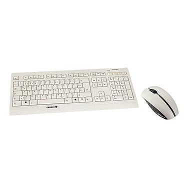 Cherry B.Unlimited AES Blanc Ensemble clavier + souris sans fil rechargeable avec système de cryptage des données (AZERTY Français)