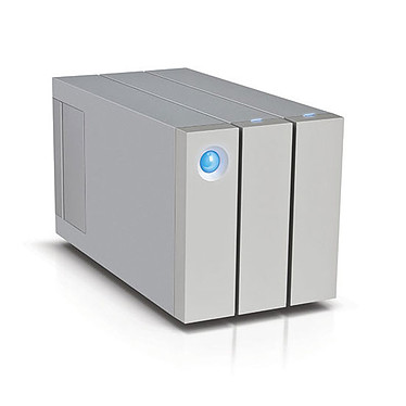 LaCie 2big Thunderbolt 2 - 8 To Système de stockage RAID professionnel haute performance à 2 disques sur ports Thunderbolt 2 et USB 3.0 (garantie LaCie 3 ans)