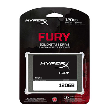 Avis HyperX Fury SSD Series 120 Go