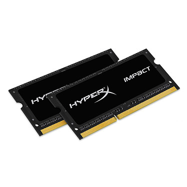Kingston HyperX Impact SO-DIMM 8 Go (2 x 4 Go) DDR3 1866 MHz CL10 Kit Dual Channel RAM SO-DIMM DDR3 PC3-14900 - HX318LS10IBK2/8 (garantie à vie par Kingston)