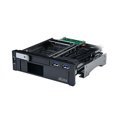 "Akasa LOKSTOR M51 Rack combo pour un HDD 3.5"" et un HDD/SSD 2.5"" Serial ATA dans baie 5.25"" + 2 ports USB 3.0"