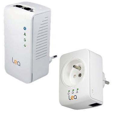 Lea NetPlug 500 Wireless N + NetSocket 500 Mini Pack CPL 500 Mbps mini avec prise + 500 Mbps Wi-Fi N