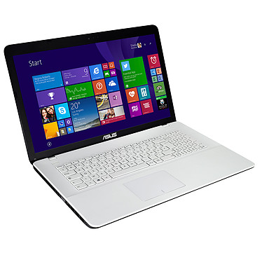 "ASUS X751LJ-TY011H Blanc Intel Core i5-5200U 4 Go 1 To 17.3"" LED HD+ NVIDIA GeForce 920M Graveur DVD Wi-Fi N/Bluetooth Webcam Windows 8.1 64 bits (Garantie constructeur 1 an)"