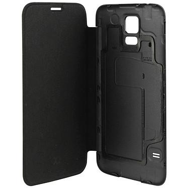 xqisit Etui Flip Batterycase Noir pour Galaxy S5 Etui Flip avec cache batterie intégré pour Samsung Galaxy S5