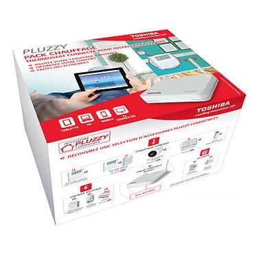 Toshiba Pluzzy Pack Chauffage Pilotage énergétique pour une maison connectée avec 1 unité centrale et 1 thermostat pour installation filaire - norme HA 1.2