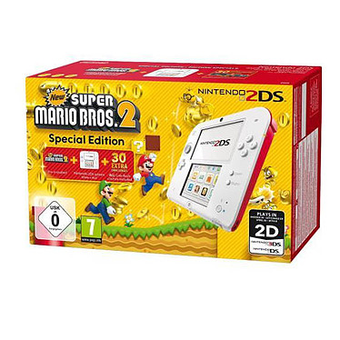 Nintendo 2DS (rouge) + New Super Mario Bros 2
