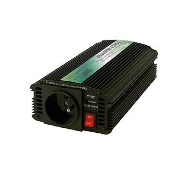 Transformateur allume cigare 500W Convertisseur de courant 12 VDC / 230 VAC - 5 VDC avec prise USB