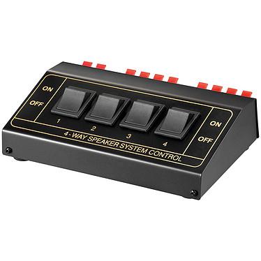 Speaker Switch Box Commutateur pour 4 paires de haut-parleurs - 200W