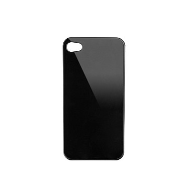 xqisit Coque iPlate iPhone 4/4S Glossy Black  Coque de protection ultra-fine pour iPhone 4/4S
