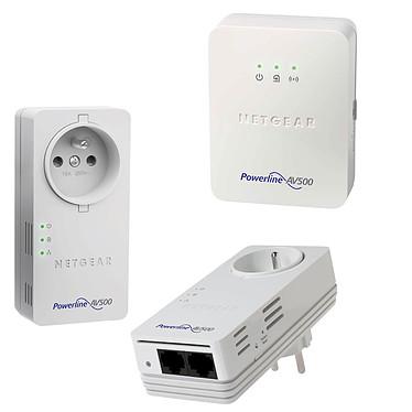 Netgear XAVB5602 + Netgear XWN5001 Pack de 2 Adaptateurs CPL AV + 2x Ethernet 500 Mbit/s + prise électrique + Adaptateur CPL 500 Mbps Wi-Fi N 300 Mbps