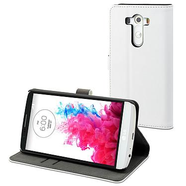 Muvit Etui Slim S Folio Blanc pour LG G3 Etui Folio pour LG G3