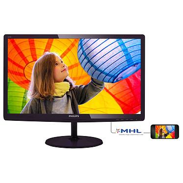 """Philips 23.6"""" LED - 247E6QDSD 1920 x 1080 pixels - 5 ms (gris à gris) - Format large 16/9 - Dalle IPS - HDMI - MHL - Noir"""