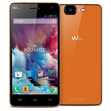 "Wiko Highway Clementine Smartphone 3G+ Dual SIM - ARM Cortex-A7 8-Core 2 GHz - RAM 2 Go - Ecran tactile 5"" 1080 x 1920 - 16 Go - Bluetooth 4.0 - 2350 mAh - Android 4.2"