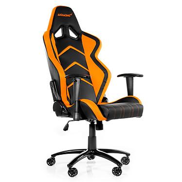 AKRacing Player Gaming Chair (orange) Siège en similicuir avec dossier inclinable à 180° et accoudoirs 1D pour gamer (jusqu'à 150 kg)