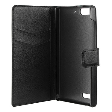 xqisit Etui Wallet Slim Noir pour Huawei Ascend G6 3G