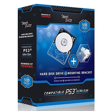 SteelPlay disque dur 500 Go + support (compatible PS3 Slim)