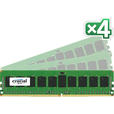 Crucial DDR4 32 Go (4 x 8 Go) 2133 MHz CL15 ECC Registered SR X4 Kit Quad Channel RAM DDR4 PC4-17000 - CT4K8G4RFS4213 (garantie 10 ans par Crucial)
