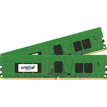 Crucial DDR4 16 Go (2 x 8 Go) 2400 MHz CL17 ECC Registered SR X4 Kit Dual Channel RAM DDR4 PC4-19200 - CT2K8G4RFS424A (garantie 10 ans par Crucial)