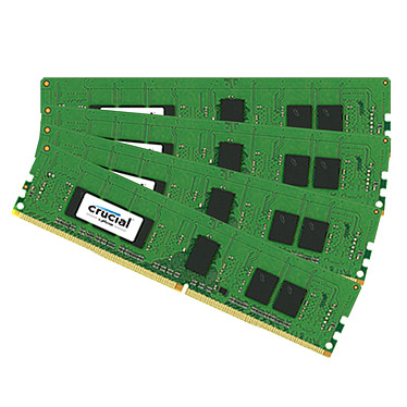 Crucial DDR4 32 Go (4 x 8 Go) 2400 MHz CL17 ECC Registered SR X8 Kit Quad Channel RAM DDR4 PC4-19200 - CT4K8G4RFS824A (garantie 10 ans par Crucial)