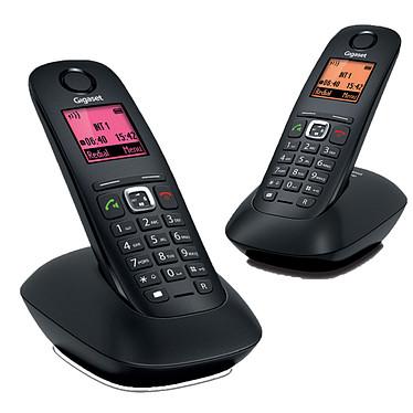 Gigaset A540 Duo Noir Téléphone sans fil DECT avec 1 combiné supplémentaire - Ecran 4 couleurs (version française)