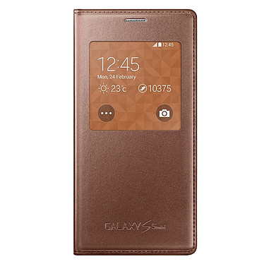 Samsung S-View Orange Samsung Galaxy S5 mini Etui folio pour Samsung Galaxy S5 mini