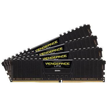 Corsair Vengeance LPX Series Low Profile 64 Go (4x 16 Go) DDR4 3466 MHz CL16  Kit Quad Channel 4 barrettes de RAM DDR4 PC4-27700 - CMK64GX4M4B3466C16 (garantie à vie par Corsair)