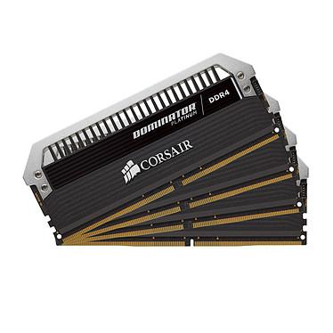 Corsair Dominator Platinum 16 Go (4x 4 Go) DDR4 3200 MHz CL16 Kit Quad Channel 4 barrettes de RAM DDR4 PC4-25600 - CMD16GX4M4C3200C16 (garantie à vie par Corsair)