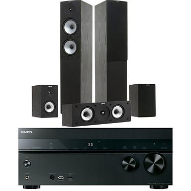Sony STR-DN1050 + Jamo S 526 HCS Black Ash Ampli-tuner Home Cinema 7.2 NFC et Wi-Fi  avec 6 entrées HDMI + Pack d'enceintes 5.0
