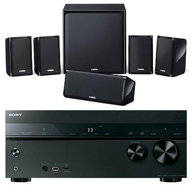 Sony STR-DN1050 + Yamaha NS-P40 Ampli-tuner Home Cinema 7.2 NFC et Wi-Fi  avec 6 entrées HDMI + Pack d'enceintes 5.1
