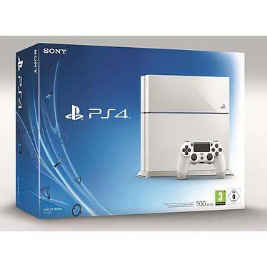 Sony PlayStation 4 (blanche) Console de jeux-vidéo nouvelle génération avec disque dur 500 Go
