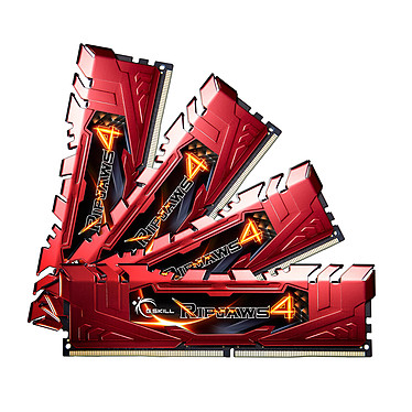 G.Skill RipJaws 4 Series Rouge 32 Go (4x 8 Go) DDR4 2666 MHz CL15