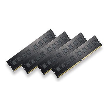 G.Skill ValueSeries 16 Go (4x 4 Go) DDR4 2133 MHz CL15 Kit Quad Channel 4 barrettes de RAM DDR4 PC4-17000 - F4-2133C15Q-16GNT (garantie 10 ans par G.Skill)