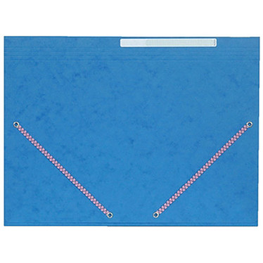 Chemise à élastiques 3 rabats en carte 375g Bleu