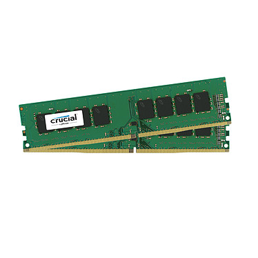 Crucial DDR4 8 Go (2 x 4 Go) 2400 MHz CL17 SR X8 Kit Dual Channel RAM DDR4 PC4-19200 - CT2K4G4DFS824A (garantie à vie par Crucial)