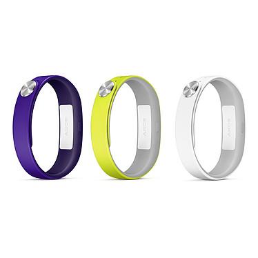Sony Bracelets Active L Violet/Jaune/Blanc Lot de 3 bracelets de taille L pour Sony SmartBand
