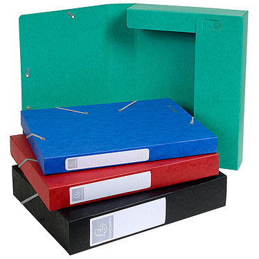 Exacompta boites de classement Cartobox dos 40 mm Assortis x 10 Lot de 10 boites de classement avec dos de 40 mm en carte lustré 600 g 24x32 cm Assortis