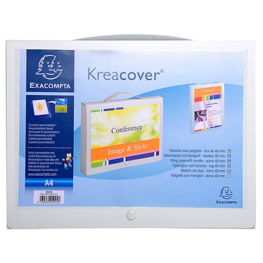 Exacompta Valisette personnalisable Krea Cover 25 x 33 cm Dos 40 mm