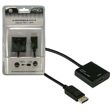 Adaptateur actif DisplayPort mâle / HDMI femelle (compatible 4K et 3D)