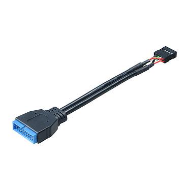 Akasa AK-CBUB19-10BK Adaptateur interne USB 3.0 mâle / USB 2.0 femelle
