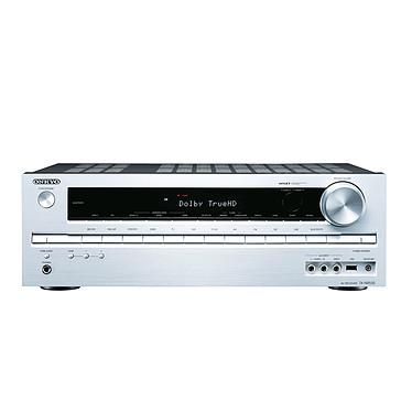 Onkyo TX-NR535 Argent Ampli-tuner Home Cinéma 5.2 DLNA avec HDMI et Décodeurs HD - Wi-Fi/Bluetooth