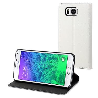 Muvit Etui Slim S Folio Blanc Samsung Galaxy Alpha Etui folio pour Samsung Galaxy Alpha
