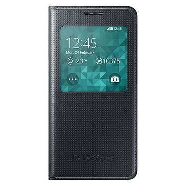Samsung S-View Noir pour Samsung Galaxy Alpha Etui Folio pour Samsung Galaxy Alpha