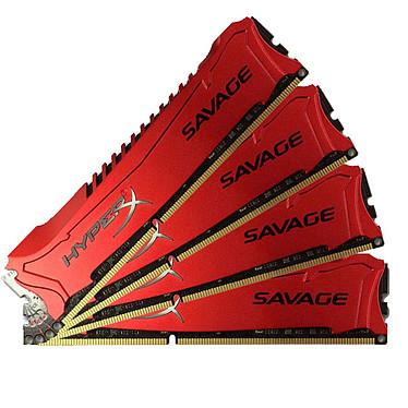 HyperX Savage 32 Go (4 x 8 Go) DDR3 1866 MHz XMP CL9 Kit Quad Channel RAM DDR3 PC14900 - HX318C9SRK4/32 (garantie à vie par Kingston)