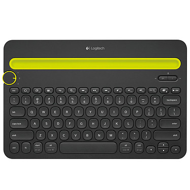 Logitech Multi-Device Keyboard K480 Noir Clavier sans fil Bluetooth - support intégré - compatible Android et iOS - AZERTY, Français -