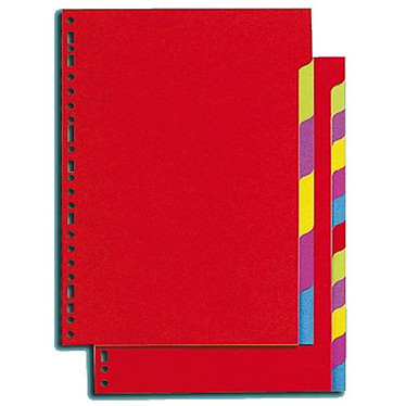 Intercalaires carte lustrée Format A4+ 12 positions