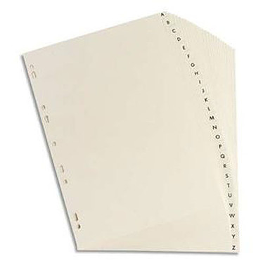Elba Intercalaires Format A4 26 touches alphabétiques en carte