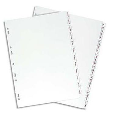 Elba Intercalaires Format A4 26 touches alphabétiques PVC 19/100E