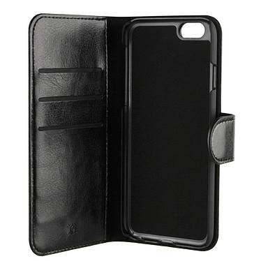 xqisit Etui Wallet Eman Noir Apple iPhone 6/6s Etui Folio Porte-feuille pour Apple iPhone 6/6s